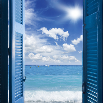 Fenêtre ouverte pour respirer